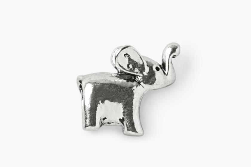 baby gooroo breastfeeding milestone charm bracelet silver elephant charm