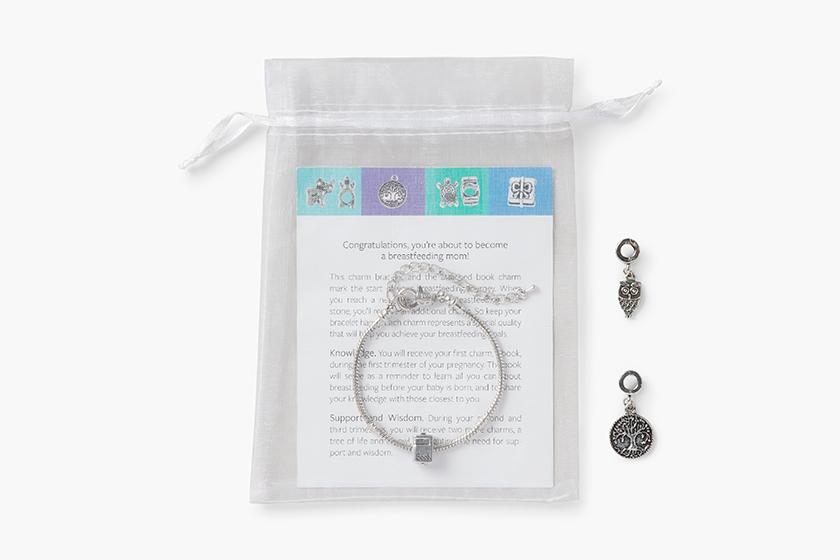 baby gooroo breastfeeding milestone charm bracelet