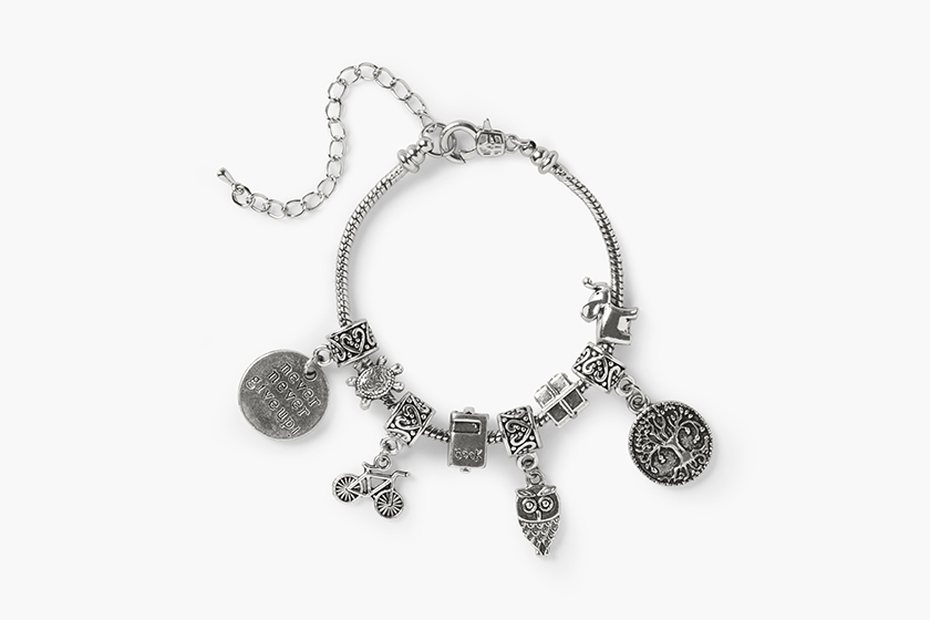 baby gooroo breastfeeding milestone charm bracelet vintage inspired antique silver bracelet