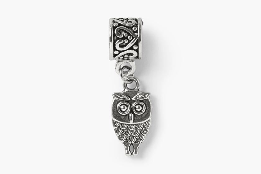 baby gooroo breastfeeding milestone charm bracelet silver owl charm