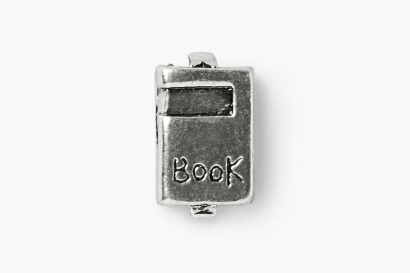 baby gooroo breastfeeding milestone charm bracelet silver book charm